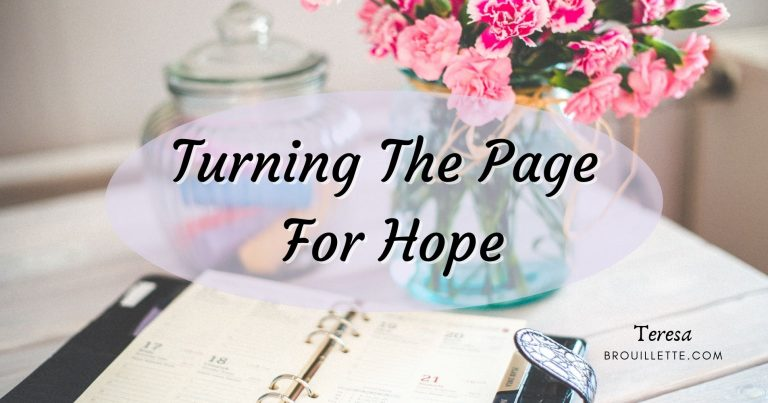Turning The Page For Hope