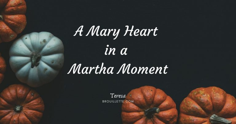 A Mary Heart in a Martha Moment