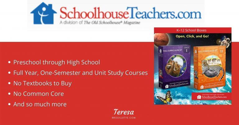 SchoolhouseTeachers.com Homeschooling Curriculum Site {Review}