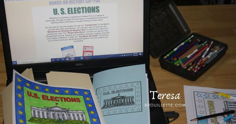 Home School in the Woods – US Elections Lap-Pak {Review}