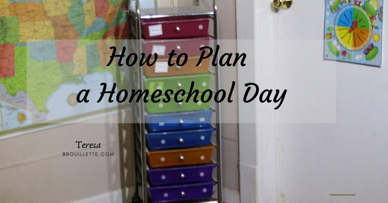 How to Plan a Homeschool Day