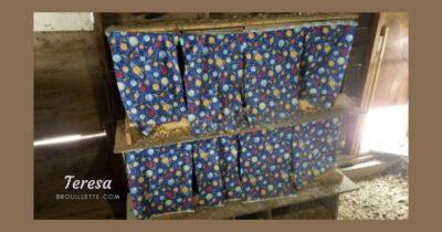 Nesting box curtains