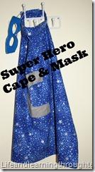 Super hero cape and mask tutorial