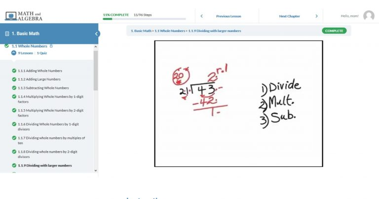 Math and Algebra Online Learning {Review}