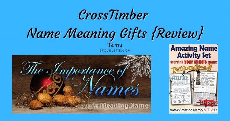 CrossTimber ~ Name Meaning Gifts {Review}