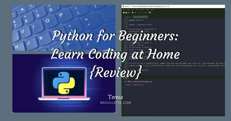 Python for Beginners – Learn Coding at Home {Review}