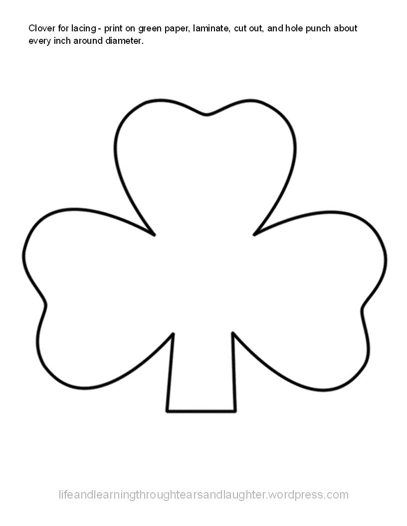 shamrocks coloring pages printable - st patrick the early missionary free printables