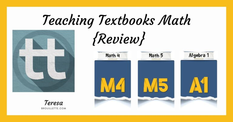 Teaching Textbooks Math {Review}