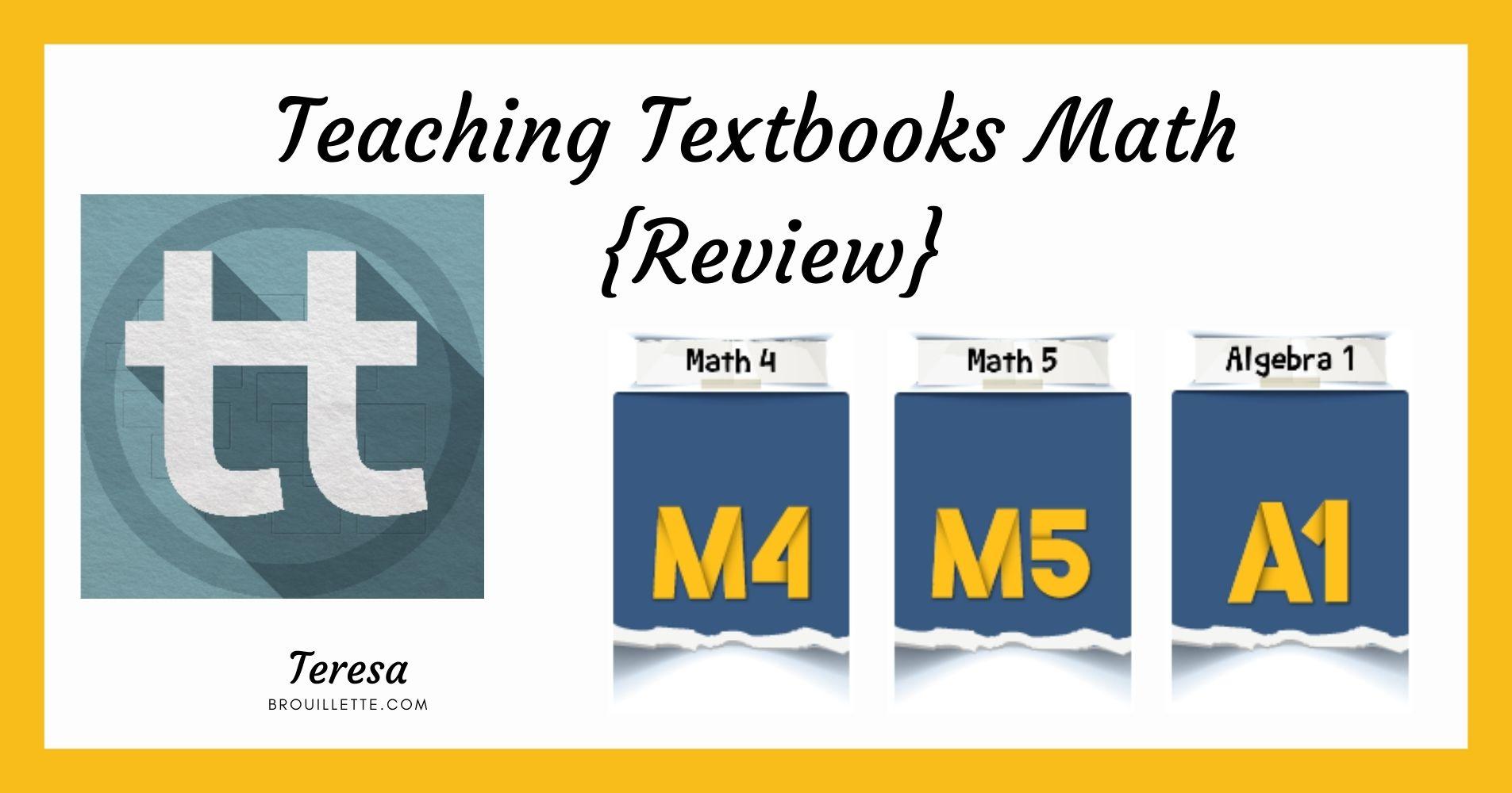 Teaching Textbooks Math {Review}