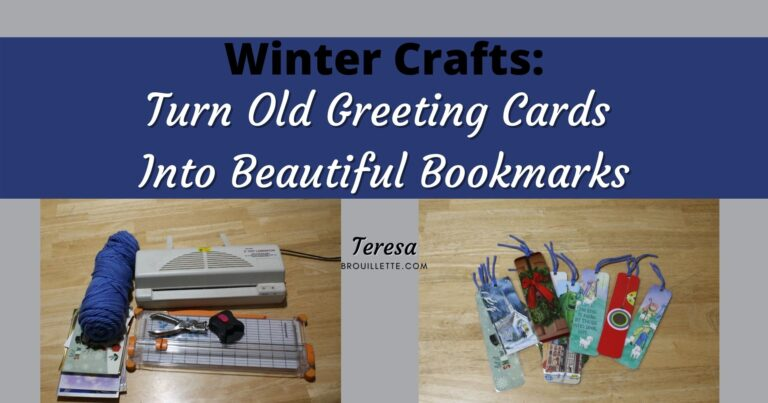 Turn Old Greeting Cards Into  Bookmarks